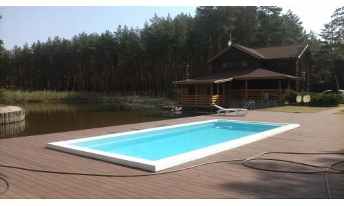 >Продам жилой дом-сруб в сосновом лесу на берегу собственного зарыбленного озера